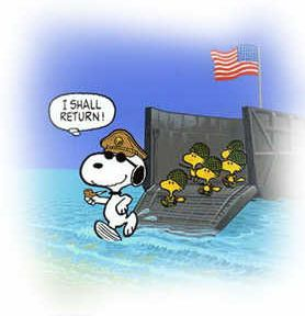 Snoopy as Macarthur